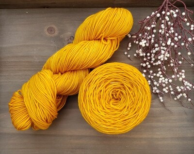 Mustard Hand Dyed Yarn