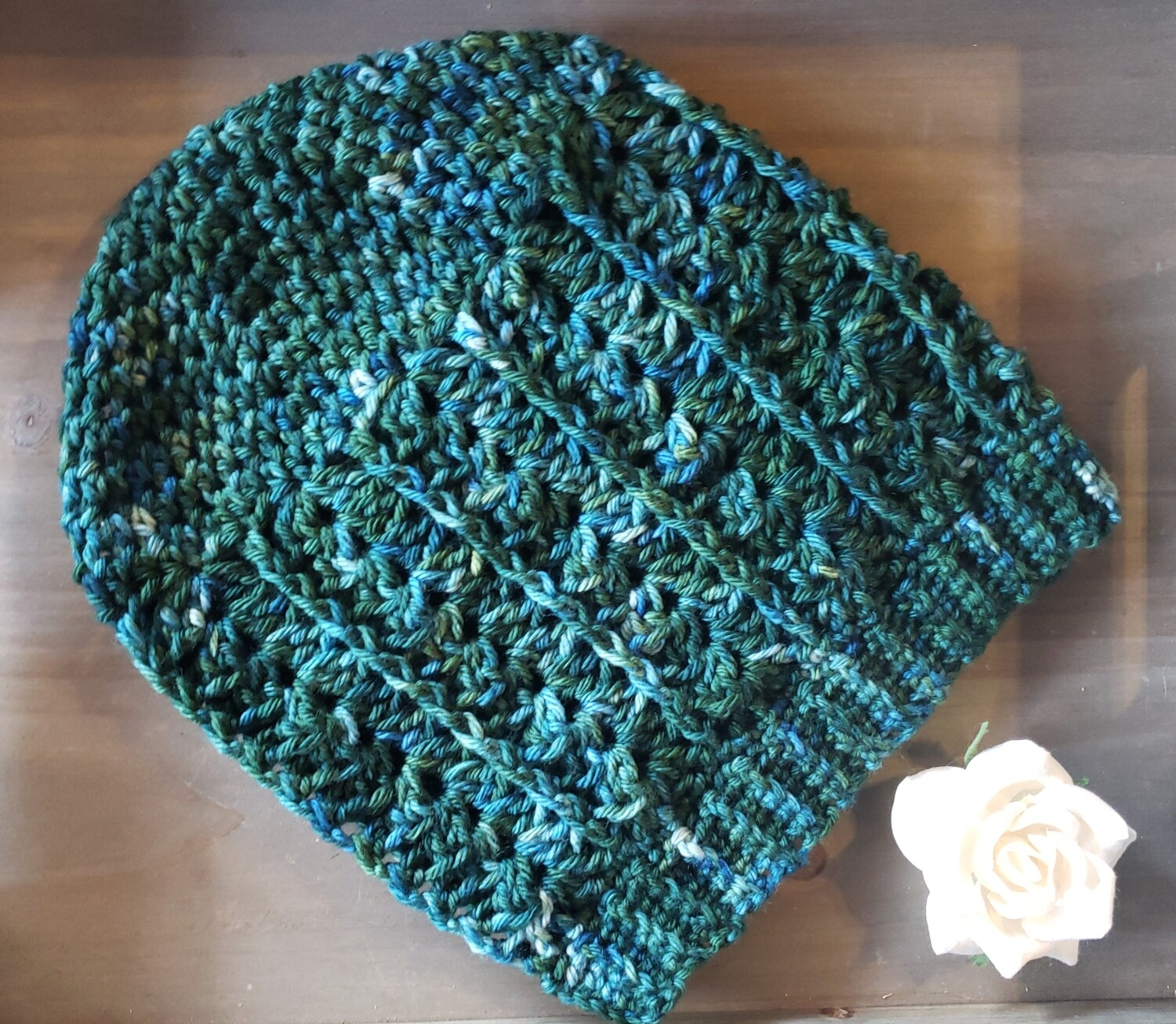 Dragonfly Slouchy Beanie Crochet Pattern