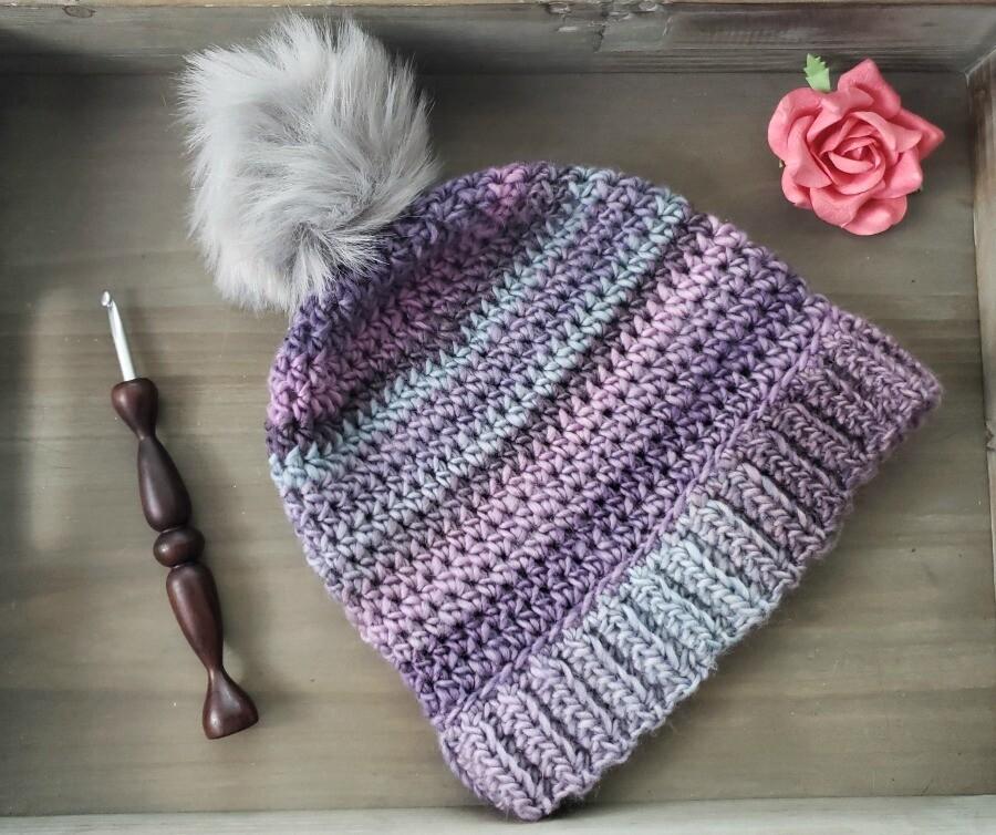 Simplicity Brimmed Beanie Crochet Pattern