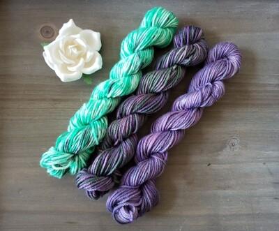 Halloween Mini Skein Hand Dyed Yarn Set