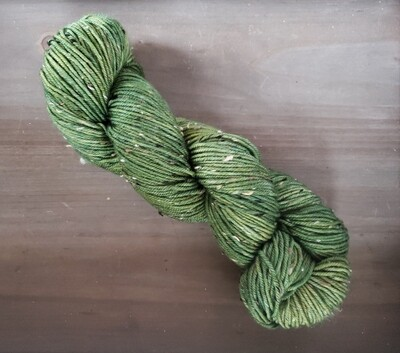 Avocado Tweed Hand Dyed Yarn