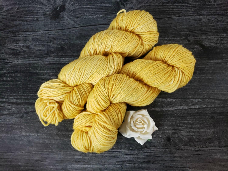 Sunny Yellow Hand Dyed Yarn