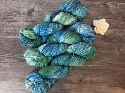 Dragonfly Hand Dyed Yarn Ready to Ship