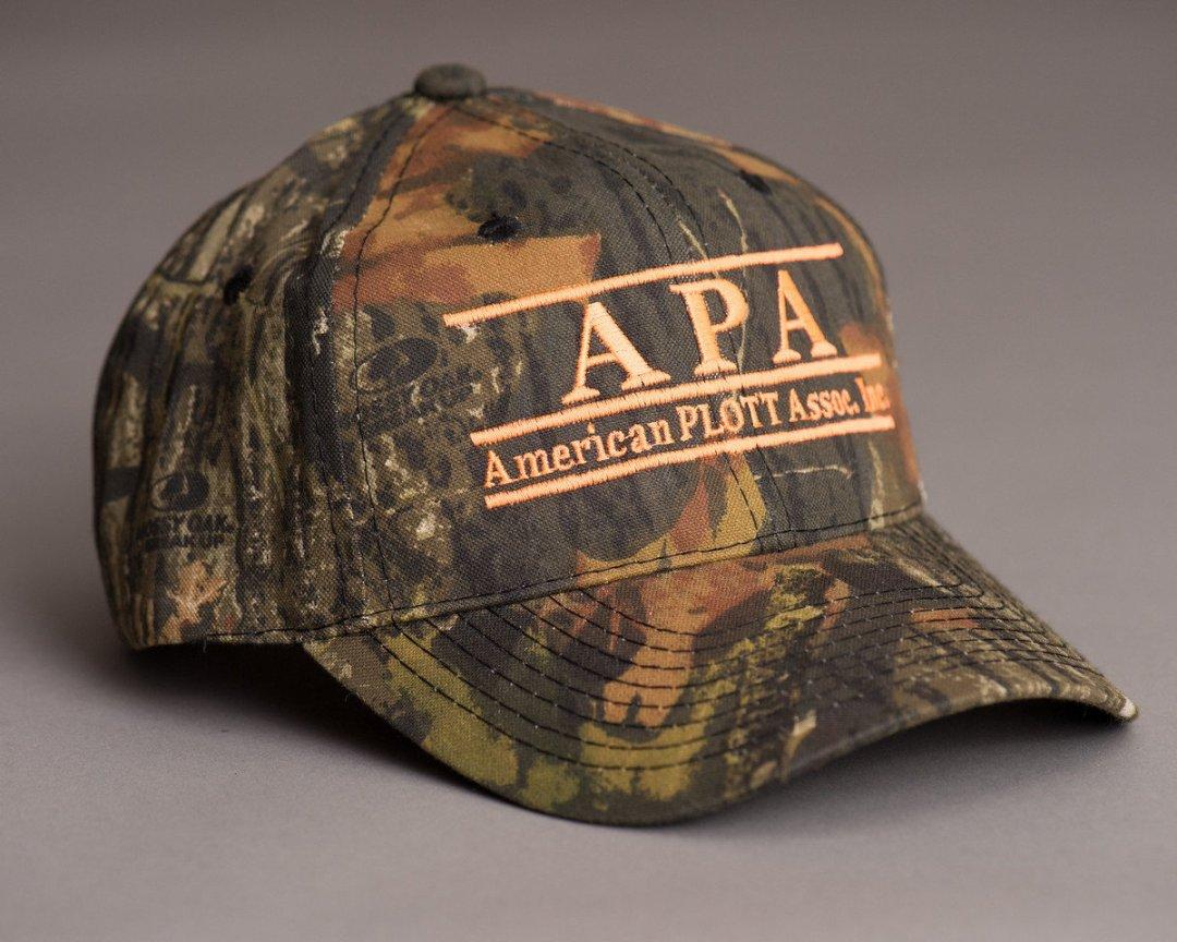 full camo hat with orange print 00039