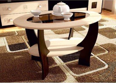 Журнальный стол №2 с овальным стеклом (900х540х600)