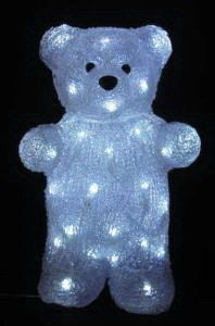 Акриловая светодиодная фигура Медведь 30см