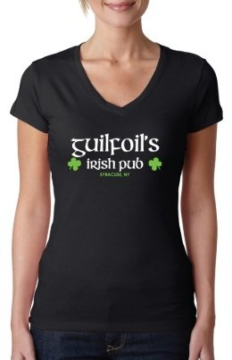 Black Guilfoil's Logo V-Neck 00003