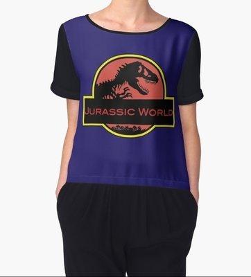 Jurassic Wrld Top Mousseline
