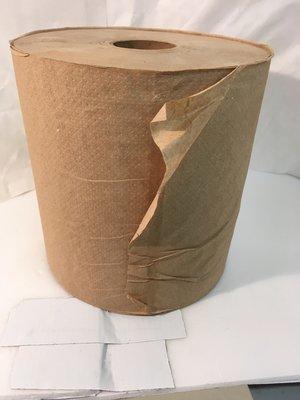 Paper Towel Roll 800' 6 Rolls Kraft Hard Wound