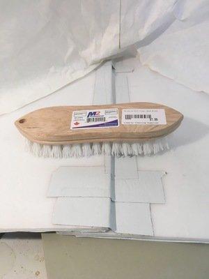 Hand Brush White Poly Fill