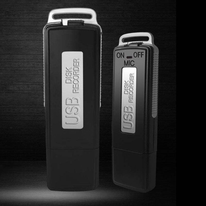 2pcs 8GB Keychains Digital Voice Recorder USB Flash Drive Black TMBD106512