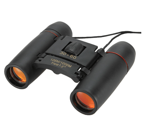 2pcs 30 x 60 126X 1000m High Power Folding Binoculars Telescope - Black