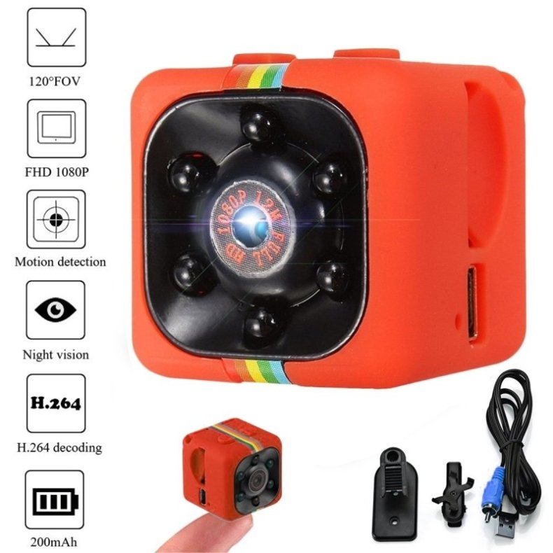 SQ11 Full HD 1080P Mini DV DVR SPY Camera Dash Cam IR Night Vision Red