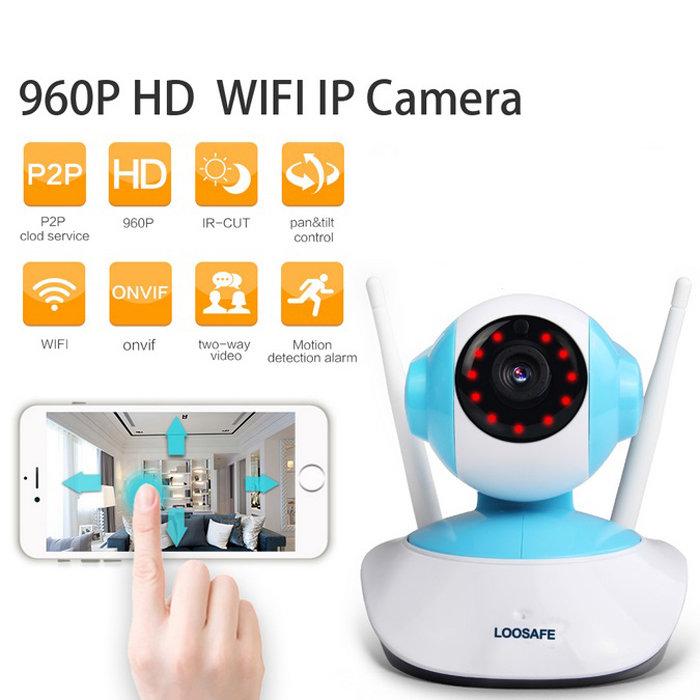 960P HD 1MP WIFI Indoor Surveillance IP Night Vision Camera w/ US Plug TM86021892