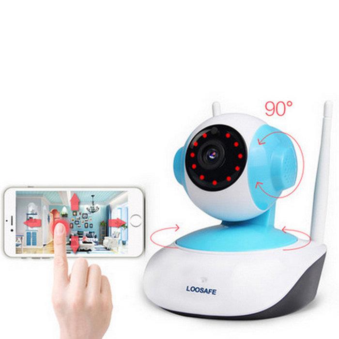 720P HD 1MP WIFI Indoor Surveillance IP Night Vision Camera w/ US Plug