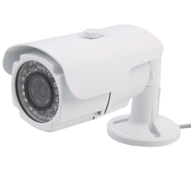 "1/3"" CCD 420TVL 36-IR LED 8mm Lens Waterproof Surveillance Camera White TM86TT2446"