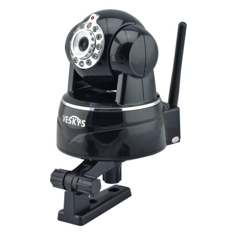 VESKYS N620W 720P HD Surveillance Wireless Network IP Camera with TF Slot/Two-way Audio Black TM86TT2791