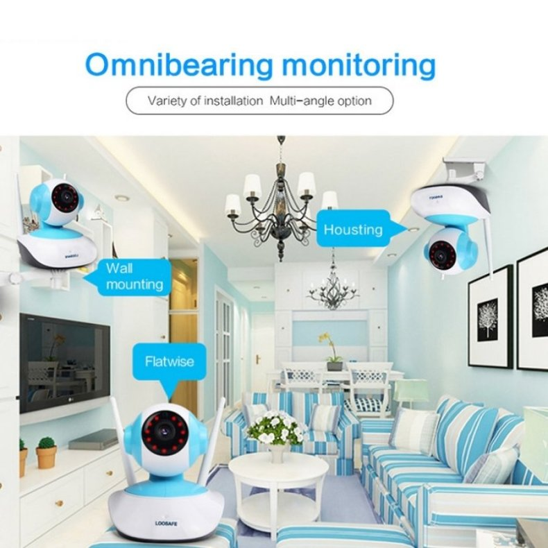 960P HD 1MP WIFI Indoor Surveillance IP Night Vision Camera w/ UK Plug TM86021894