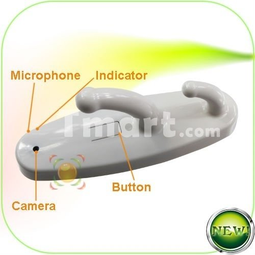 HD Mini Camcorder Clothes Hook Video Cam Pinhole DV Video Recorder White