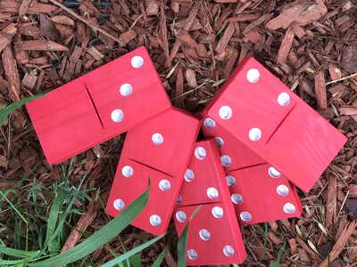 Candy Cane Tailgating/Camping Dominoes