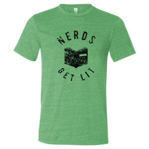 Green  Nerds Get Lit Shirt Medium 00028