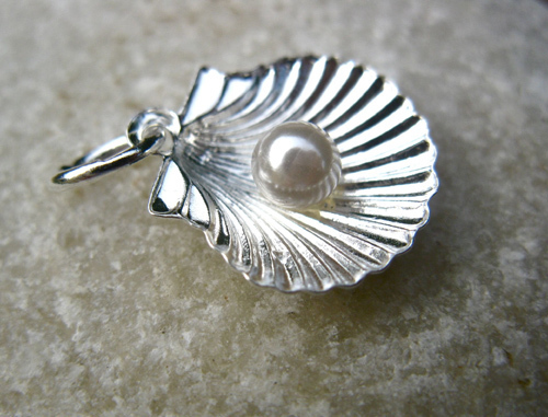 A little pearl nestling in a scallop shell, popular with pilgrims walking the Way of St James
