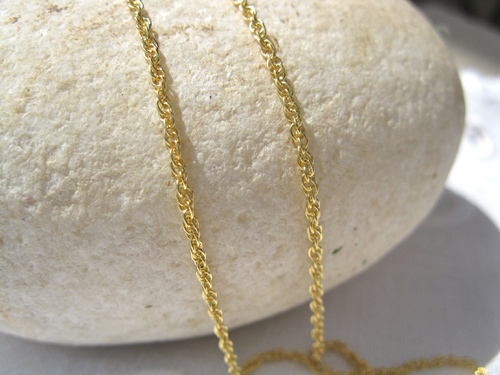 Pretty gold-plated rope chain