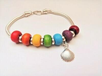 Stay Safe bracelet ~  Rainbow of Hope