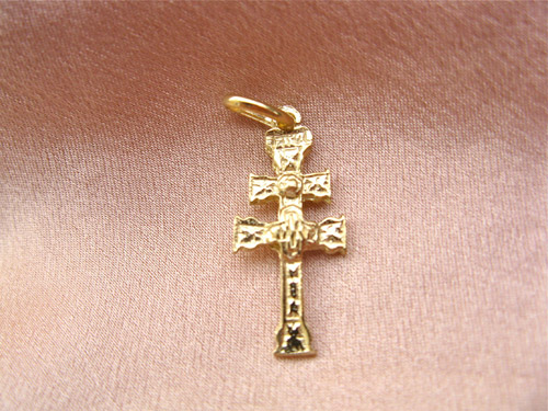 Caravaca cross ~ gold-plated sterling silver 00577