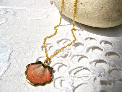 Santiago de Compostela Camino necklace ~ gold plate