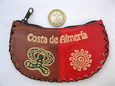 Spanish Leather Purse ~ Indalo, Costa de Almeria