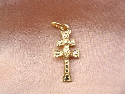 Caravaca cross ~ gold-plated sterling silver