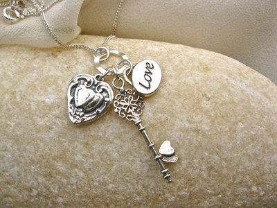 Key to my heart necklace ~ silver