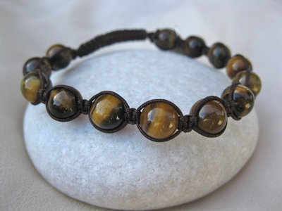 Shamballa bracelet ~ Faith, tiger's eye