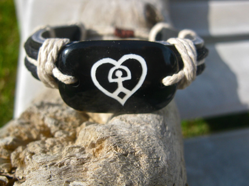 Indalo love bracelet ~ leather and cord