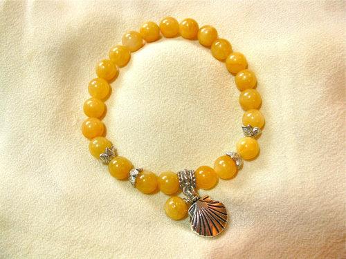 Alternative colour, yellow jade bracelet