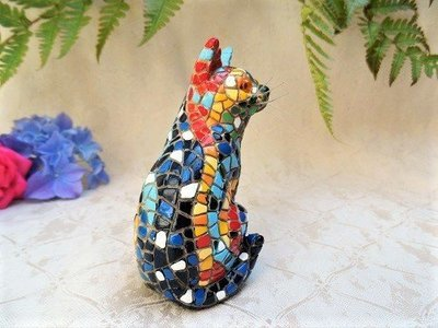 Spanish ceramic Cat figurine ~ Lola