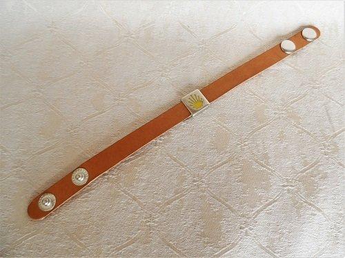Plgrim bracelet - made of natural leather