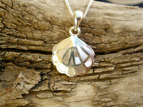 This beautifully delicate mother-of-pearl scallop shell makes the perfect gift of faith