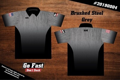 Brushed Steel - Polo Jersey
