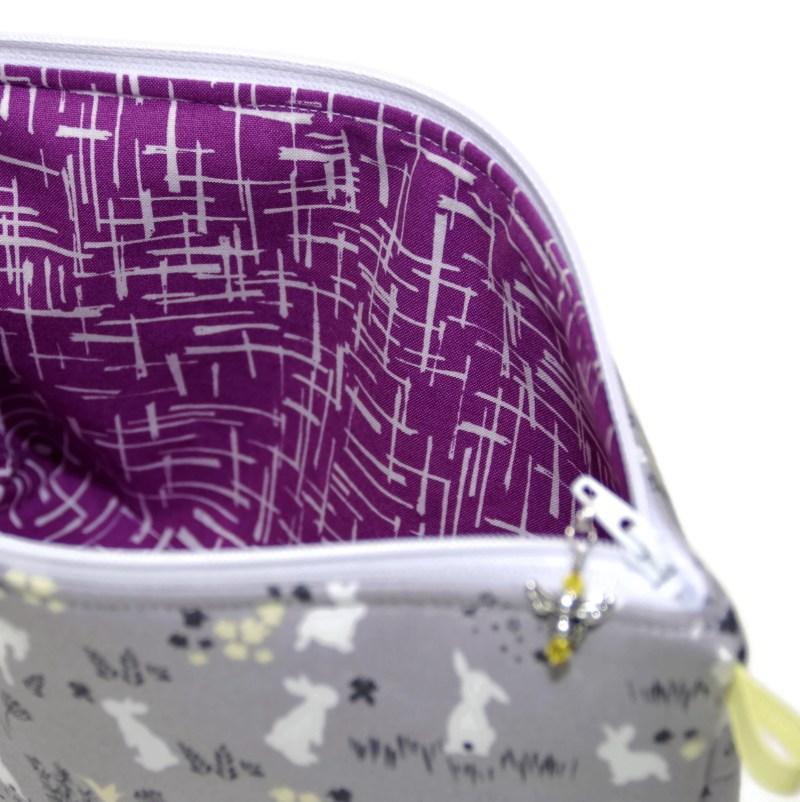 Grey Bunnies - Large Wedge Bag