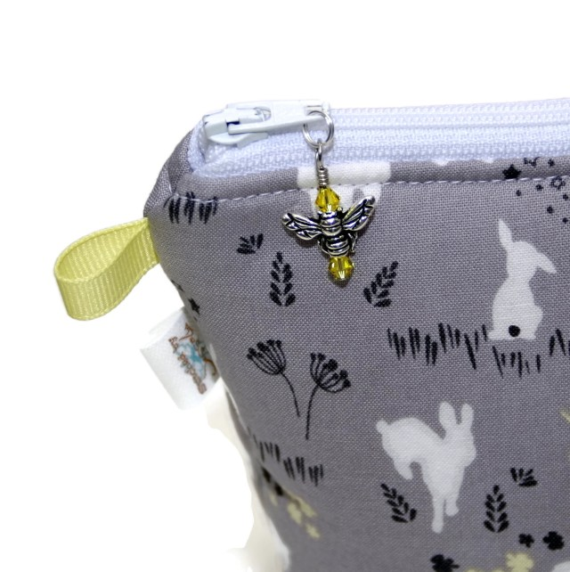 Grey Bunnies - Large Wedge Bag
