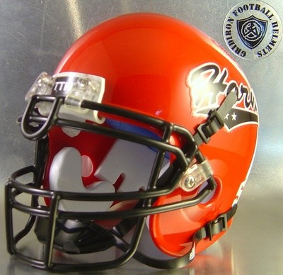 Cedar Hill Long Horns HS 2004-2015 (TX) Red with 2 star Horns Logo (mini-helmet)