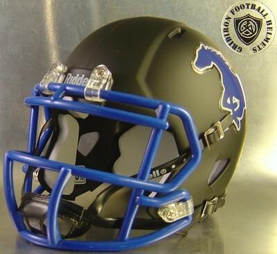 Friendswood Mustangs HS 2013 (TX) Matte Black  (mini-helmet)