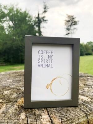 | coffee is my spirit animal | mini |