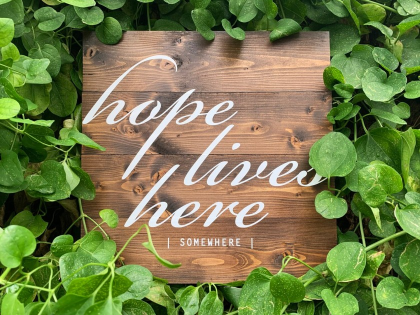| hope lives here ... somewhere | wood |
