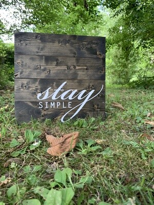 | stay simple | wood |