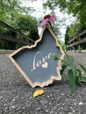 | ohio outline ... love | wood |