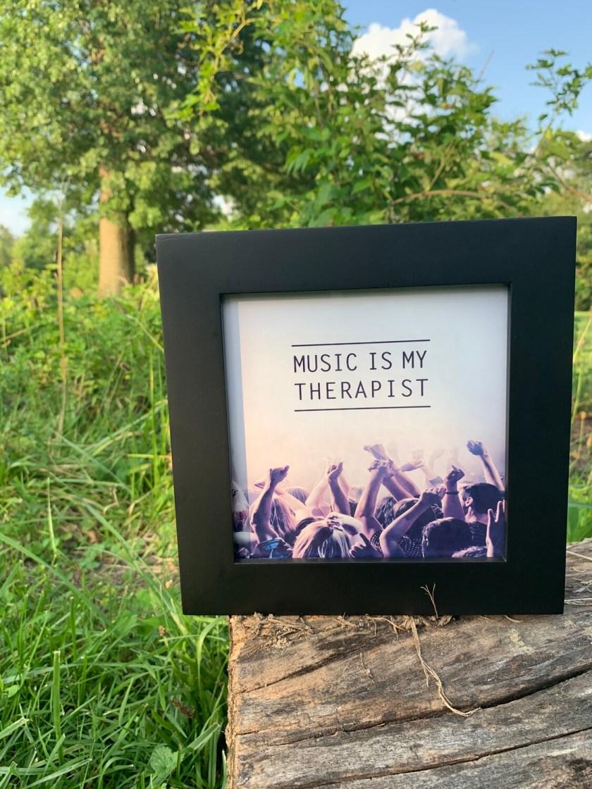   music is my therapist  