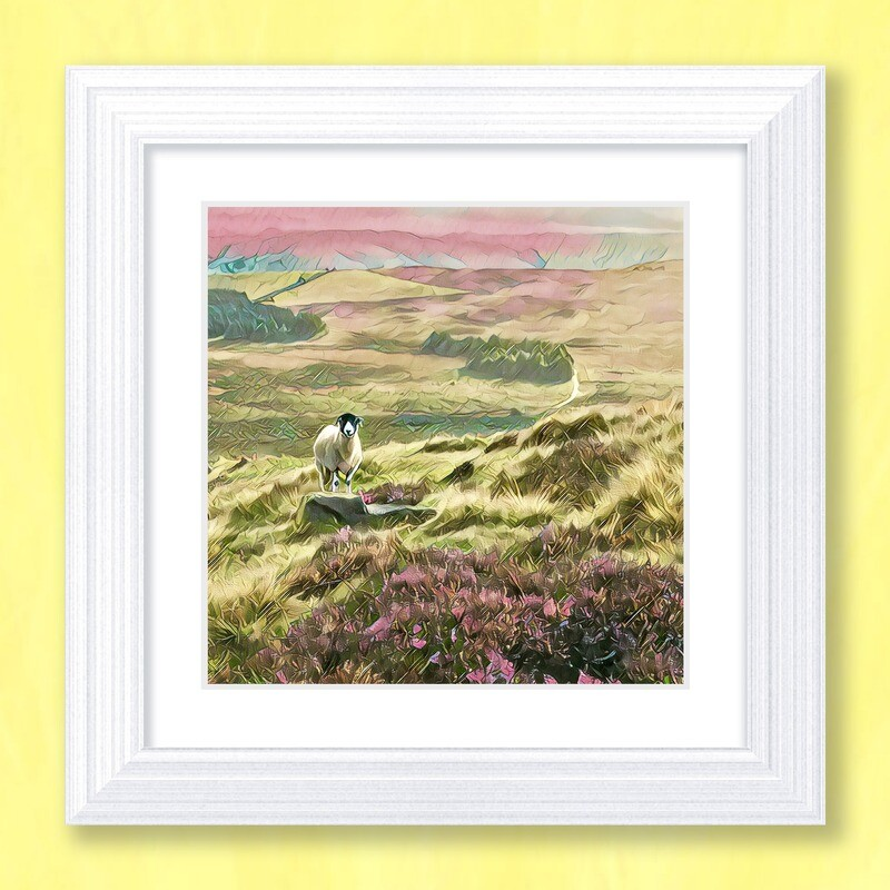 Stanage Sheep Art Print